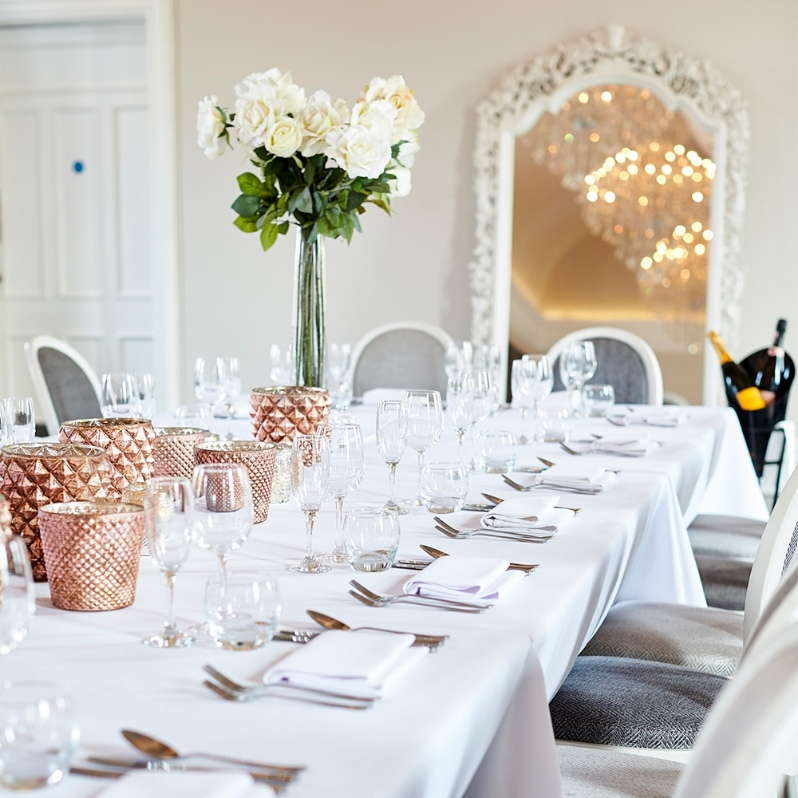 Laid out Contemporary wedding table